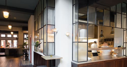 Sconces by Blom & Blom at Roebling's, Amsterdam - Oyster