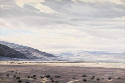 Paintings by Willard Dixon seen at San Francisco International Airport, San Francisco - Death Valley II