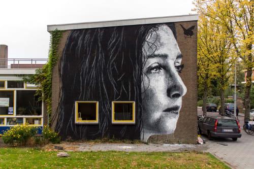 Street Murals by Nils Westergard seen at Broedplaats HW10, Amsterdam - Sami