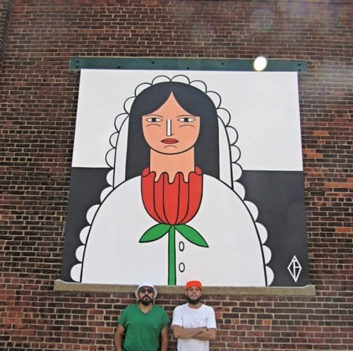 Street Murals by Fortoul Brothers seen at 29th Street, Union City, Union City - Bride