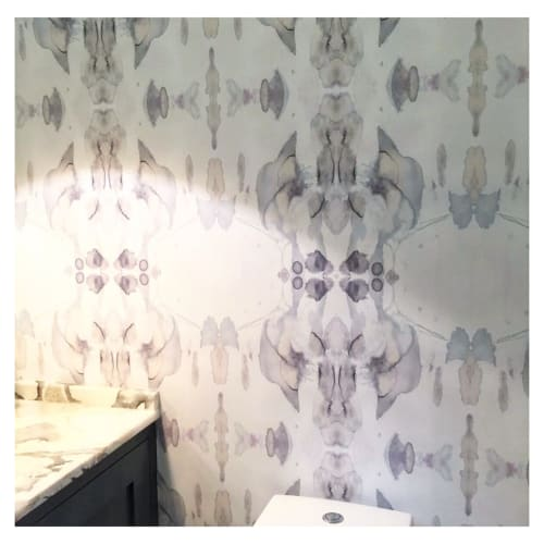 Wallpaper by Eskayel at Private Residence, Charlotte - Madagascar-Mist