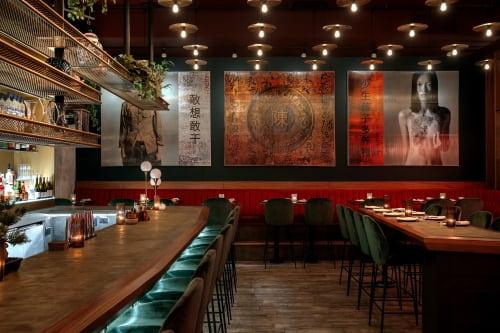 Interior Design by F O R T seen at Mister Chen's Asian Brasserie, Calgary - Interior Design