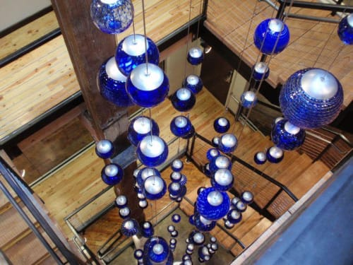 Sculptures by Rock Cottage Glassworks seen at Faultless Brands, Kansas City - Glassblowing Art