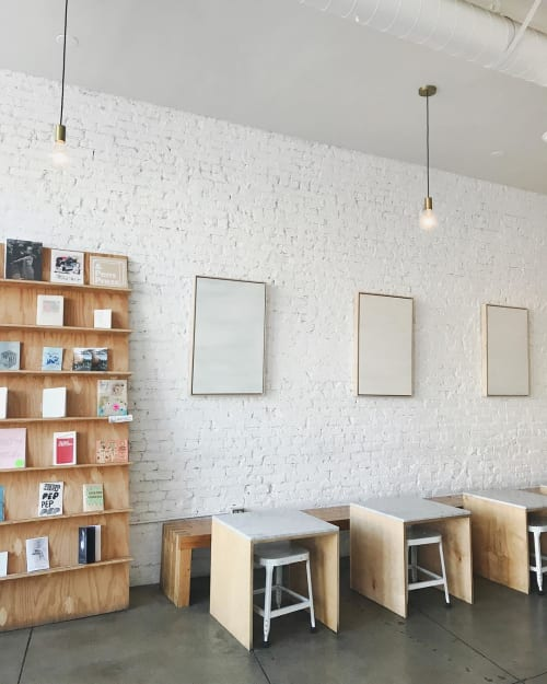 Paintings by Cindy Hsu Zell seen at Eightfold Coffee, Los Angeles - Minimalist Paintings