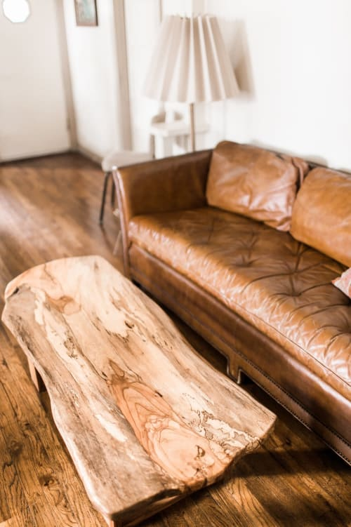 Tables by Joint Venture Woodworks seen at Private Residence, Dallas - Salty Spalted
