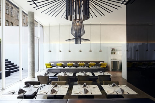 Lighting by atelier oï seen at Hôtel Americano, New York - Allegro Assai Suspension Lamp