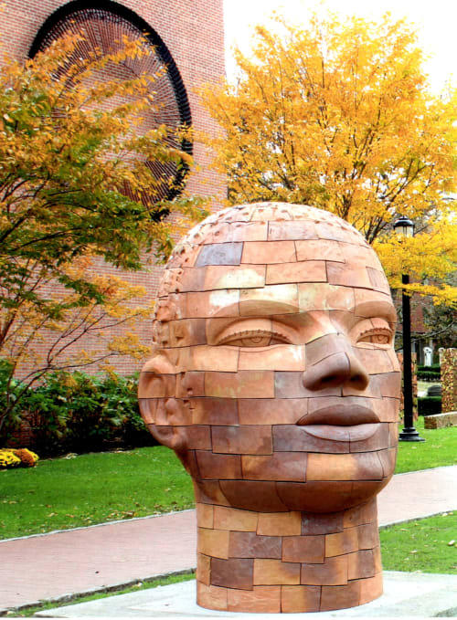 Sculptures by James Tyler seen at Pratt Institute, Brooklyn - Brickhead Yemanja