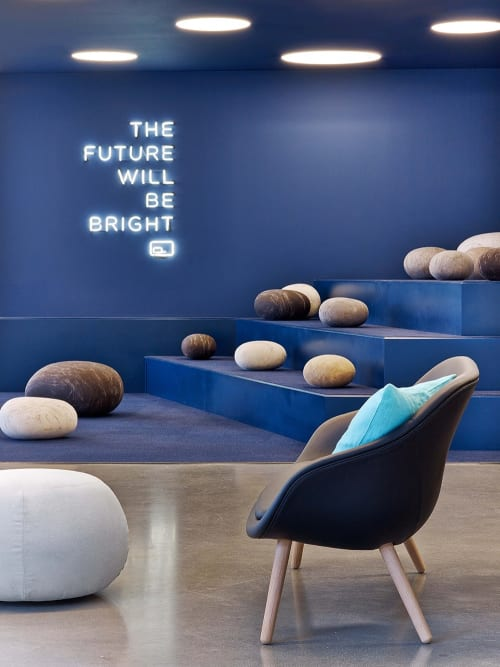 Benches & Ottomans by Ronel Jordaan at Fullscreen Inc., Los Angeles, Los Angeles - Rock Cushions