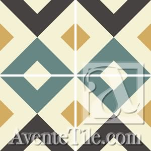 Tiles by Avente Tile seen at Redbird, Los Angeles - Geometric Geo Tiles