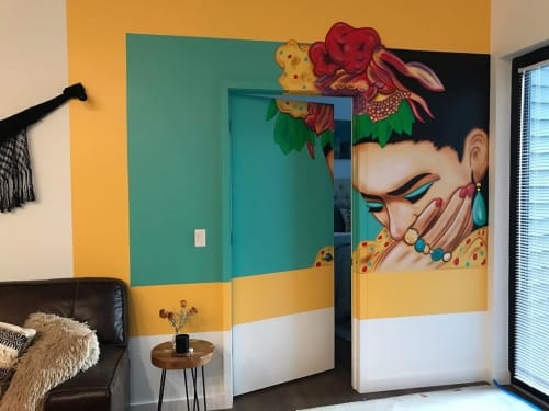 Murals by KEN'S KUSTOMS seen at Private Residence, New York - Frida