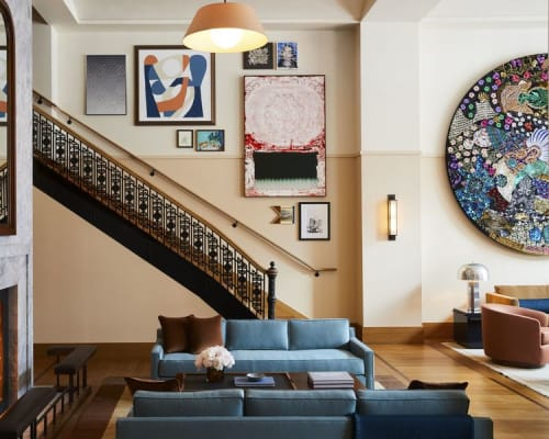 Paintings by Willie Wayne Smith seen at Shinola Hotel, Detroit - Lilt