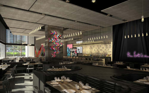 STK Miami, Bars, Interior Design