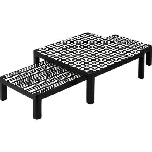 Tableware by Namavari at CB2, Berkeley - Plume Raised Black and White Raised Serving Platter