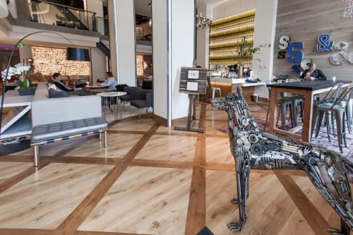 Sculptures by Brian Mock seen at Hotel Zetta, San Francisco - Dog Statue