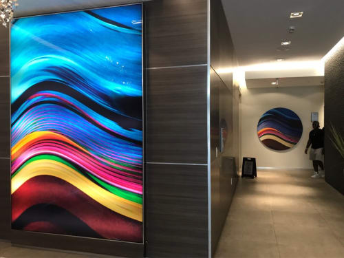 Paintings by Rodolfo Choperena seen at Hyatt Centric South Beach Miami, Miami Beach - Lobby Artwork