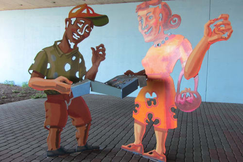 Public Sculptures by M. Louise Stanley seen at Powell Street Underpass, Emeryville - Neighborhood Convergence