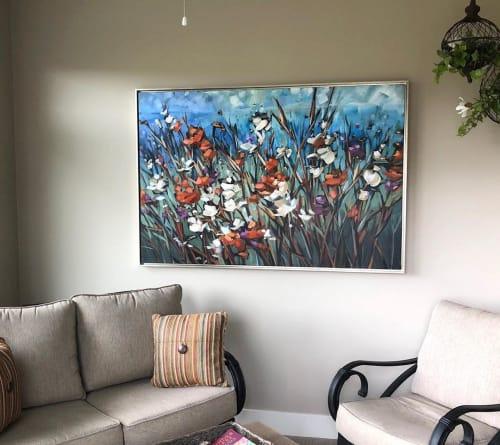 Paintings by Jill Van Sickle Fine Art Paintings seen at Private Residence, Minneapolis - Lovely Flower Painting