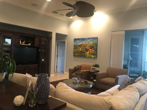 Paintings by Elaine Lanoue seen at Private Residence - Bonita Springs Painting
