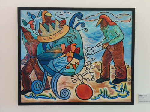 Paintings by John Bankston seen at Zuckerberg San Francisco General Hospital and Trauma Center, San Francisco - Big Machine