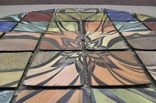 Murals by Natalie Blake Studios seen at Chabot College, Hayward - Mandala