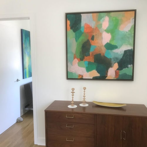 Paintings by Kari Kroll seen at Private Residence, Palm Springs - Summer Colors Abstract