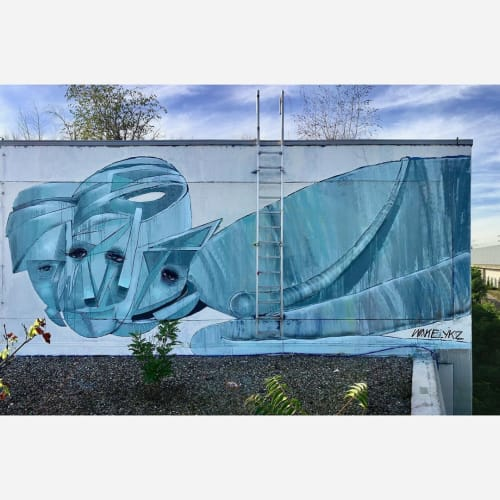 Street Murals by Giorgos Beleveslis (wake_ykz) seen at Berlin, Berlin - Urban Art Mural