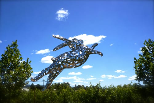 Sculptures by Lawrence Argent seen at HALL Wines, Saint Helena - Bunny Foo Foo, 2014