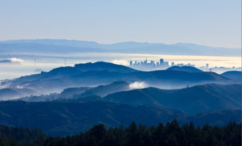 Photography by Rob Badger Photography seen at Zuckerberg San Francisco General Hospital and Trauma Center, San Francisco - San Francisco Beyond the Blue Hills of Marin, View from Mt. Tamalpais