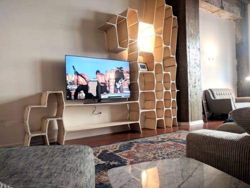 Tables by Modos Furniture seen at Private Residence, Los Angeles - Modos TV stand