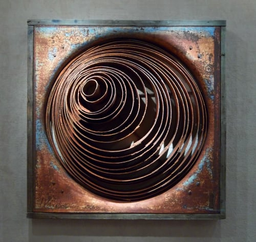 Sculptures by Tamara Robertson at Private Residence, Taos - Metal Inspired Wall Sculpture