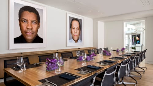 Paintings by Martin Schoeller seen at Cut, Beverly Hills - Portraits
