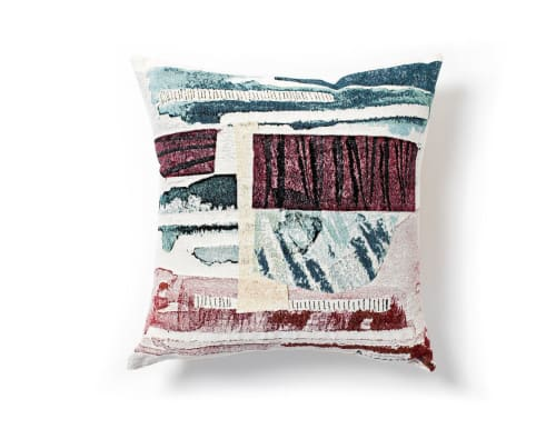 "Pillows by K'era Morgan seen at Creator's Studio, Los Angeles - ""Gees Bend"" Throw Pillow Cover"
