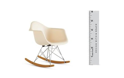 Chairs by Charles and Ray Eames seen at Hotel Diva, San Francisco - Eames Molded Rocker (RAR)