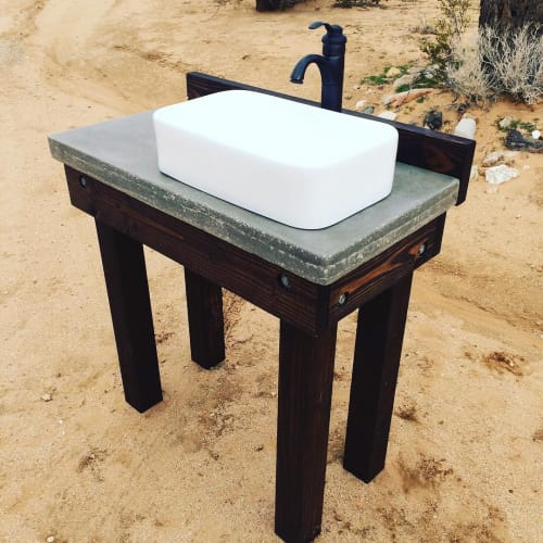 Water Fixtures by Ryan Norman Drobatz seen at Pioneertown Motel, Pioneertown - Bathroom Sink