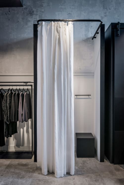 Curtains & Drapes by James Dunlop Textiles seen at Oska, Sydney - Kyoto - Snow