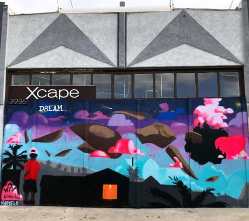 Xcape Mural | Street Murals by WHOSVLAD | Xcape in Long Beach