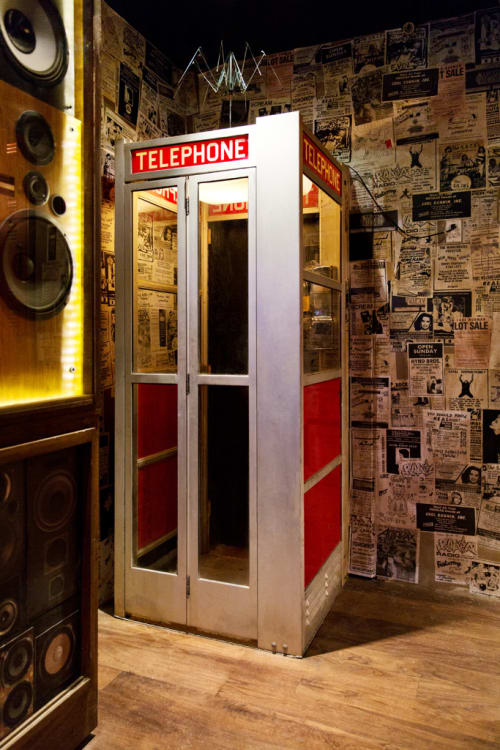 Furniture by Houston Hospitality seen at Break Room 86, Los Angeles - Custom Telephone Booth