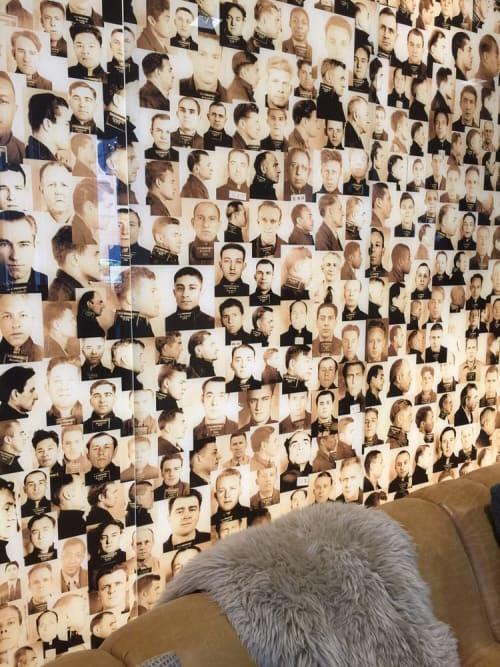 Photography by Soho Myriad seen at Hotel Zetta, San Francisco - Photo Montage of Alcatraz Prisoners