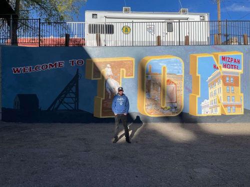 Street Murals by Josh Scheuerman seen at Tonopah, Tonopah - Tonopah Mural