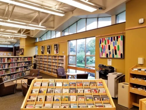 Paintings by Peter Triantos seen at Toronto Public Library - Don Mills Library, Toronto - Jelly Bean #61