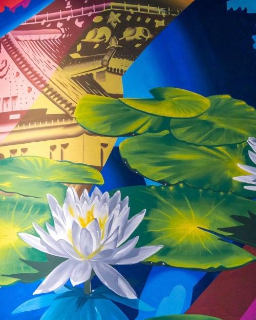 Murals by WHOLE9 seen at Ibis Styles Osaka, Ōsaka-shi - Mural