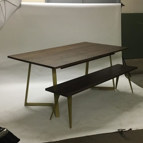 Tables by Iron Mountain Forge & Furniture seen at Clinton Hill, Brooklyn - Custom Table and Bench