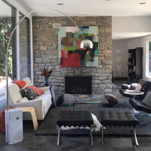 Paintings by Sharon Paster at Private Residence, San Francisco - On the Mountain, Early Fall