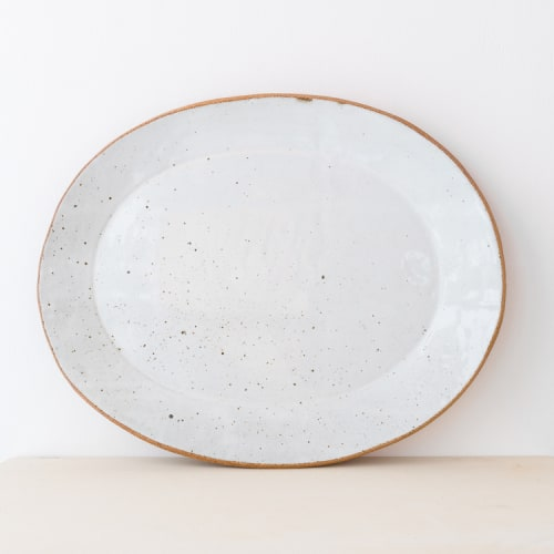 Ceramic Plates by Irving Place Studio seen at Camino, Oakland - Handmade Ceramic Slab Platters