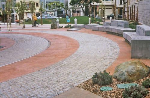 Sculptures by Seyed Alavi seen at Richmond Recreation Center, San Francisco - Speaking Stones