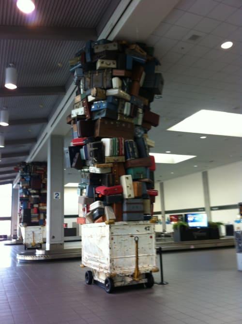 Sculptures by Brian Goggin seen at Sacramento International Airport, CA, Sacramento - Samson