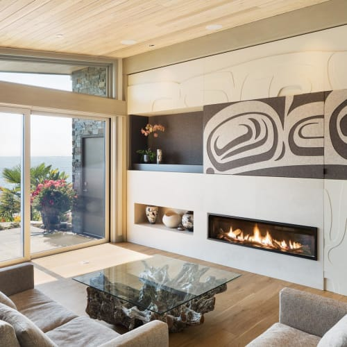 Furniture by Sabina Hill seen at Private Residence, Sechelt - Felt Panels