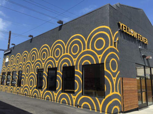 Murals by Amanda Lutz-Beheshti seen at Yellow Fever, Torrance - Mural with Stencil