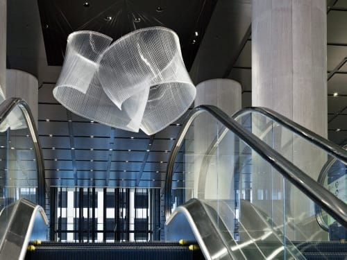 Sculptures by Nikolas Weinstein seen at Akasaka K-Tower, Minato - Lobby Glass Sculptures