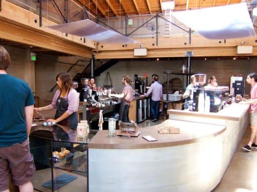 Aprons by Matt Dick - Small Trade Company seen at Sightglass, San Francisco - Denim Apron